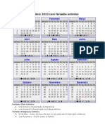 Novo Calendario de 2013