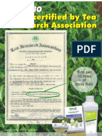 Apsa-80 now certified by Tea Research Association