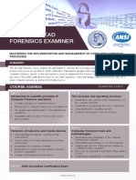 Certified Lead Forensics Examiner - Four Page Brochure