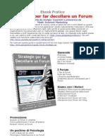 Forum e Web Marketing - Strategie per Fare Decollare un Forum