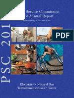 2013 Utah Public Service Commission Annual Report