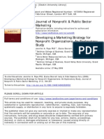 Developing NPOs Marketing Strategies
