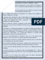 LA PALABRA COMUNICACIÓN PROVIENE DE LA PALABRA
