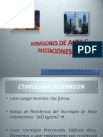Hormigones de Altas Prestaciones Msc. Cabrera