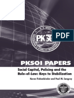 Social Capital, Policing, And the Rule of Law, Keys to Stabilization