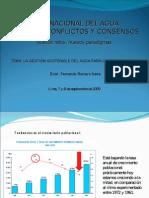 La Gestión sostenible del agua para consumo humano - Fernando Romero Neyra - Consultor