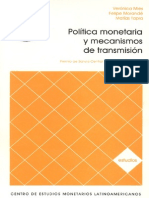 Politica Monetaria y Mecanismos de Trasnmision