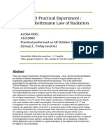 Physics Experiment Report ; The Stefan-Boltzmann Radiation Law (by A Kriel)