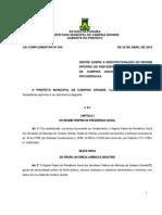Lei Complementar 045 - Reestrutura o IPSEM