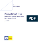PACSystems RX3i Max-On Hot Standby Redundancy Manual, GFK-2409