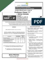 SIP P - Professor Classe C - Séries Iniciais