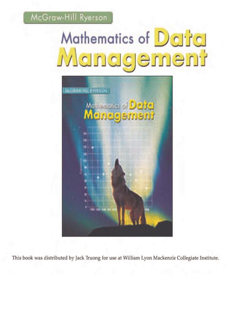 Mathematics of Data Management v2  0200e5bf9090