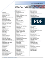 Essential Medical Verbs POSTER