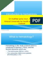 Hematology Introducion