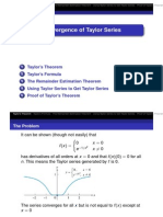 9.9 Convergence of Taylor Series