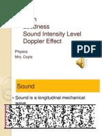 1 Sound, Pitch, Loudness, Doppler Effect