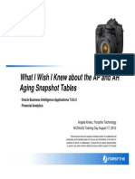 What I Wish I Knew About the AP and AR Aging Snapshot Tables