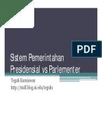 Presidensil Parlementer Tk 27mei2009