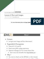 IDMLlib Tutorial 4