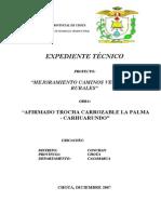 Memoria e x p. Tecnico La Palma Carhuarundo