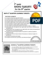 learning targets 4th grade 3rd quarter