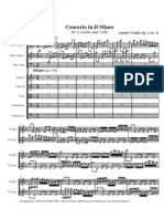 Vivaldi Concerto in D minor for 2 violins and cello op 3 no 11