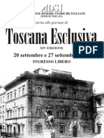 "Programma ""Toscana Esclusiva"" 2009"