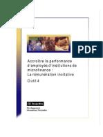 RH rémunération incitative IMF