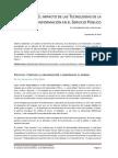 ELIMPACTODELASTECNOLOGÍASDELAINFORMACIÓN EN EL SERVICIO PÚBLICO. (ARTÍCULO)
