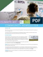 Climate-KIC Community Newsletter, January 2014