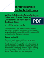 Social Entrepreneurship on Health- The Holistic Way - Poster