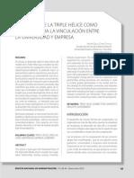 El Modelo de La Triple Helice Como Un Medio Para La Vinculacion