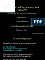 Fortran Learning Cambridge University
