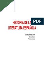 Versificacion en Espanol y Figuras de La Historia de La Literatura Espanola