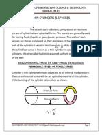 Thin Wall Pressure Vessels