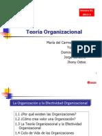 Semana 1 Teoria Organizacional 2013-2