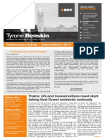 Autumn/Winter 2013, parliamentary bulletin, English version - Tyrone Benskin