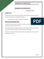 Amendment of Constitution
