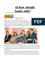 What and How Should Central Banks Talk