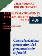 Las Matematicas en Los Proceso de Formacion de Maestros i 2008