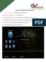 SKYBOX F5F4 F3 and M3 HD Card Sharing Setup