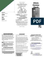 January 12, 2014 Trifold Bulletin