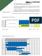 MBAT 2013 Sports Schedule