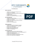 course structure- BSc IT