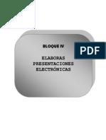 Bloque IV (Presentaciones Electrónicas)