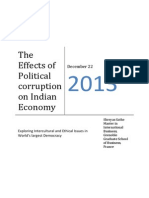 The Effects of Political Corruption on Indian Economy