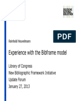 A experiência com o modelo Bibframe  ALAmw2013-bibframe-update-Heuvelmann