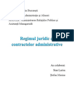Regimul Juridic Al Contractelor Administrative