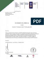 IHF BASF Certificate 2010