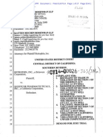01/10/2014 - Antitrust lawsuit against Questcor in California -  Complaint Document